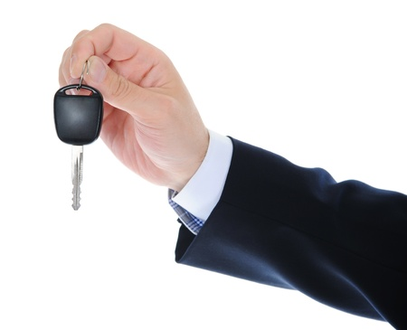 Businessman gives the keys to the car Stock Photo - 10544772