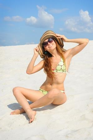 beautiful woman on the beach Stock Photo - 10544789