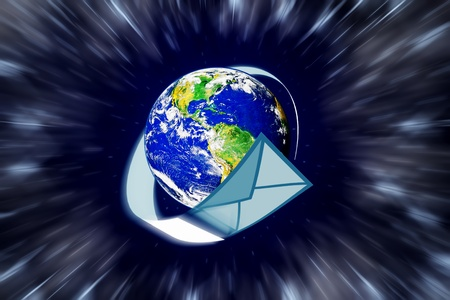 planet earth and mail the envelope Stock Photo - 10544776