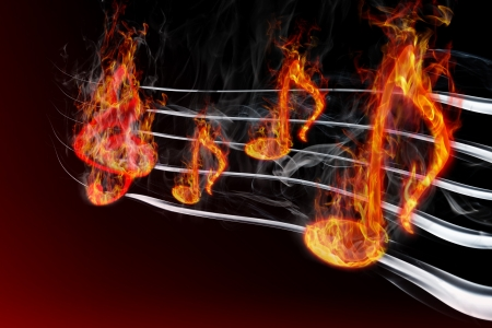 bass clef: burning music