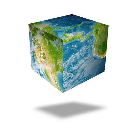 earth square globe Stock Photo - 10566987