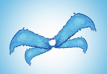 blue water splash Stock Photo - 10567008