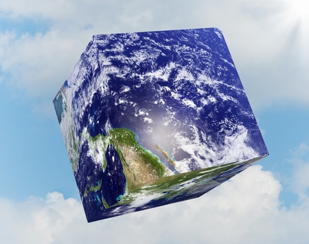 earth square globe photo