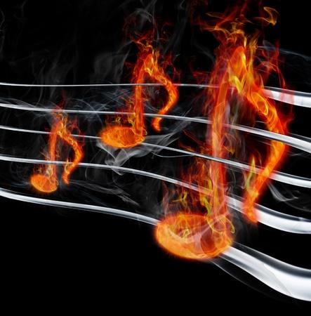 rock music: burning music