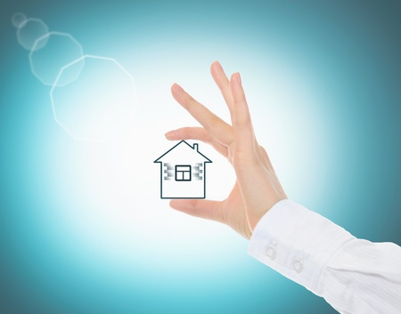 house in human hands Stock Photo - 10577625