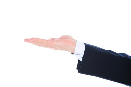hands of light: human hand held up.