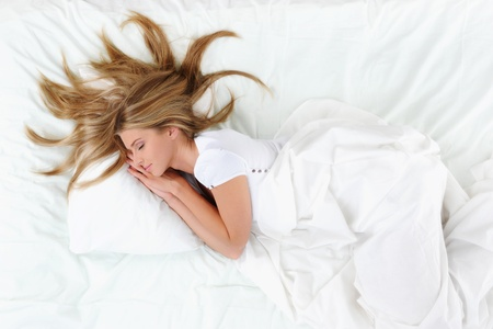 woman on the bed Stock Photo - 10620487