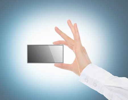 card blank in a hand Stock Photo - 10620526