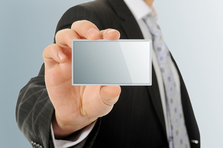 card blank in a hand Stock Photo - 10620506
