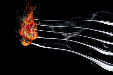 burning music photo