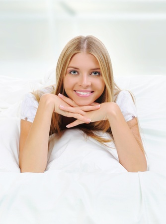 woman on the bed Stock Photo - 10620493
