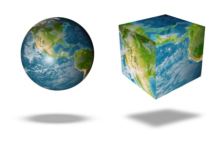 earth square globe Stock Photo - 10620549