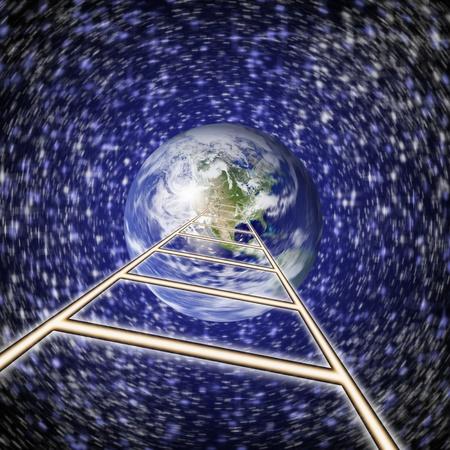 south pole: earth square globe Stock Photo