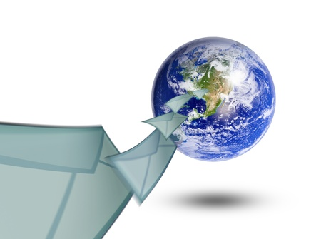 planet earth and mail the envelope Stock Photo - 10657058
