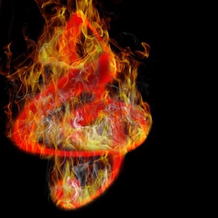 burning music Stock Photo - 10657052