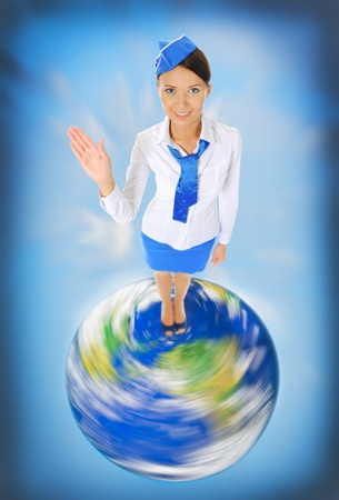 Attractive stewardess Stock Photo - 10657063