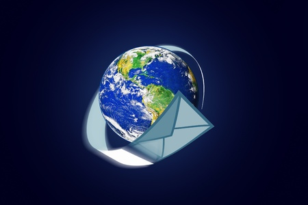 planet earth and mail the envelope Stock Photo - 10657051