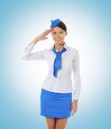 Attractive stewardess Stock Photo - 10657055