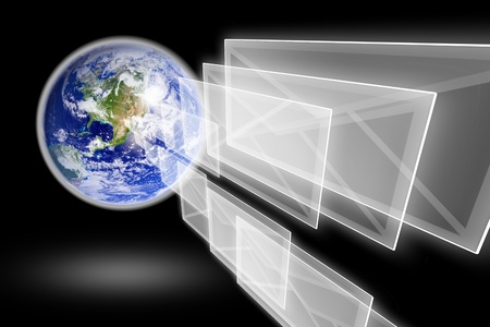 planet earth and mail the envelope Stock Photo - 10709216