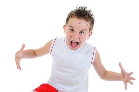 Angry little boy Stock Photo - 10709204