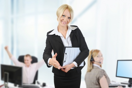 business team in an office Stock Photo - 10709219