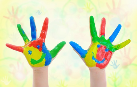 Hand Painted Child Stock Photo - 10709215