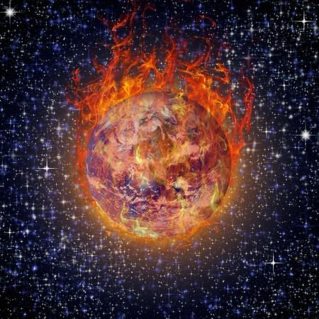 earth square globe Stock Photo - 10730484
