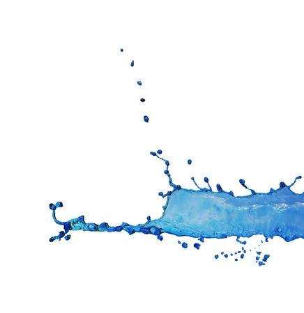blue water splash photo
