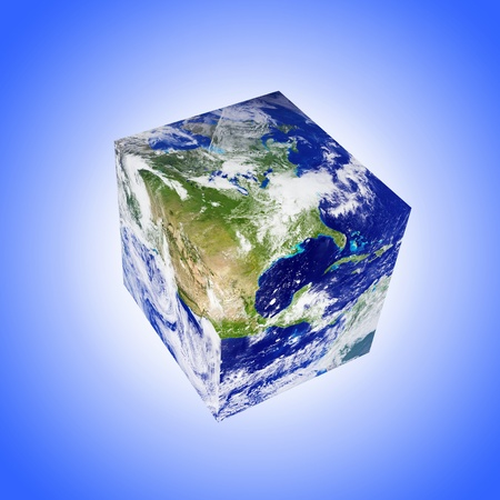 earth square globe Stock Photo - 10730480