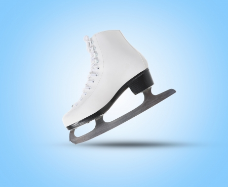 figure skate: Imagen de la figura pat�n Foto de archivo
