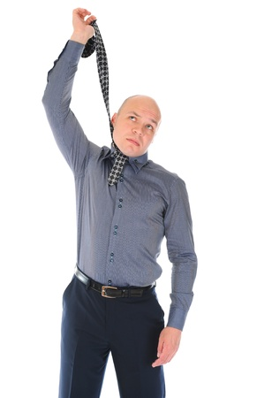 businessman hanged himself in a tie photo
