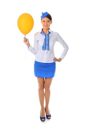 Attractive stewardess photo