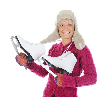 Girl with skates Stock Photo - 11107911