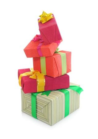 pyramid of boxes of holiday photo