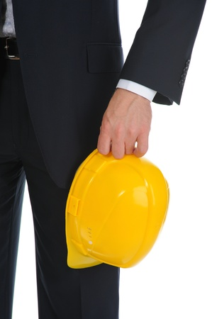 Businessman with construction helmet Stock Photo - 11229070