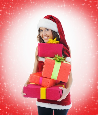 Christmas Smiling Woman Stock Photo - 11342378
