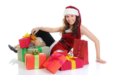 Christmas Smiling Woman Stock Photo - 11342314