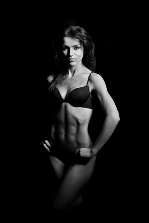 beautiful woman bodybuilder Stock Photo