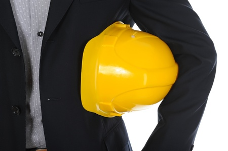 Businessman with construction helmet Stock Photo - 11342456