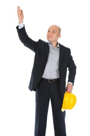 Businessman with construction helmet Stock Photo - 11342389