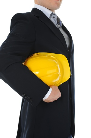 Businessman with construction helmet Stock Photo - 11342411