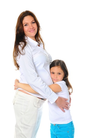 pregnant woman with her daughter Stock Photo - 11342403