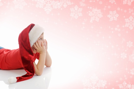 Cheerful boy in Santa Claus hat Stock Photo - 11342487