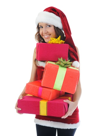 Christmas Smiling Woman Stock Photo - 11342888