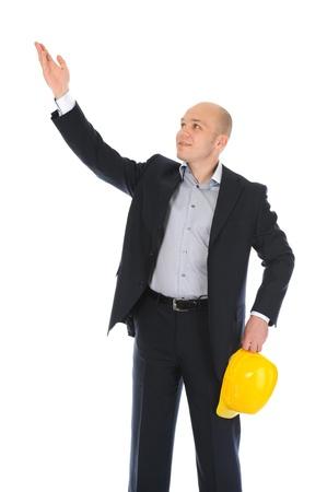 Businessman with construction helmet Stock Photo - 11342662