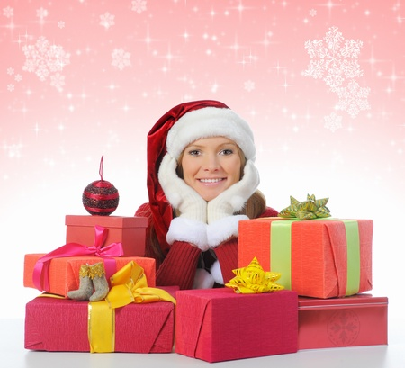 Christmas Smiling Woman photo