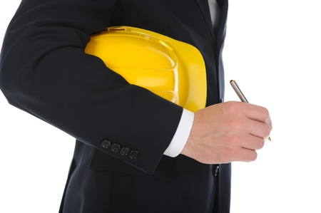 Businessman with construction helmet Stock Photo - 11342762