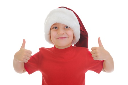Cheerful boy in Santa Claus hat Stock Photo - 11342704