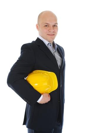 Businessman with construction helmet Stock Photo - 11342682
