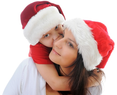 Cheerful boy in Santa Claus hat Stock Photo - 11342782
